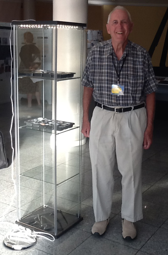 Bob Bruner with his exhibit